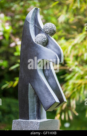 Sculpture at Kingham Lodge during Oxfordshire Artweeks 2016 by Luke Saidi. - Stock Photo