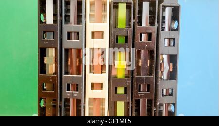 Magnetic tape audio cassettes - Stock Photo