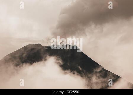 Tungurahua Volcano One Of The Most Active Volcanoes In Ecuador - Stock Photo