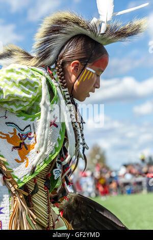 Close up of Native American boy.
