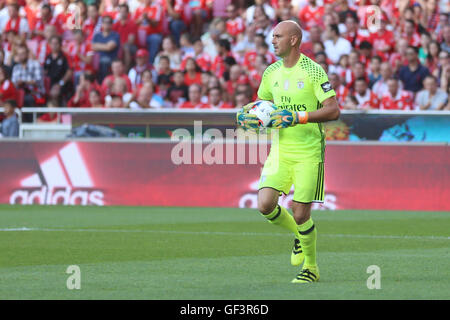 Lisbon, Portugal. 27th July, 2016. SL Benfica's goalkeeper Paulo Lopes Credit:  Alexandre Sousa/Alamy Live News - Stock Photo