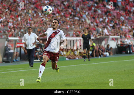 Lisbon, Portugal. 27th July, 2016. Torino's defender Davide Zappacosta Credit:  Alexandre Sousa/Alamy Live News - Stock Photo