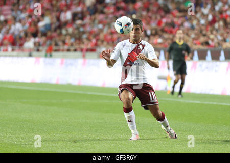 Lisbon, Portugal. 27th July, 2016. Torino's forward Iago Falque Credit:  Alexandre Sousa/Alamy Live News - Stock Photo