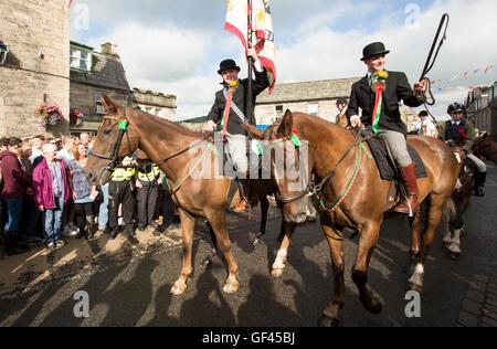 Cornet, Langholm Common Riding, Langholm, Scotland UK - Stock Photo