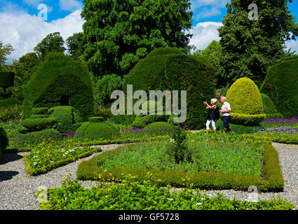 The topiary gardens at Levens Hall, South Lakeland, Cumbria, England UK - Stock Photo