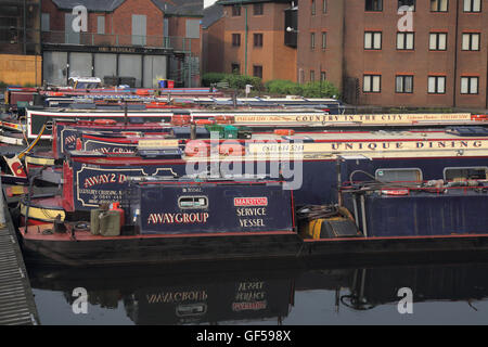 gas street canal basin in birmingham's canal network birmingham england - Stock Photo