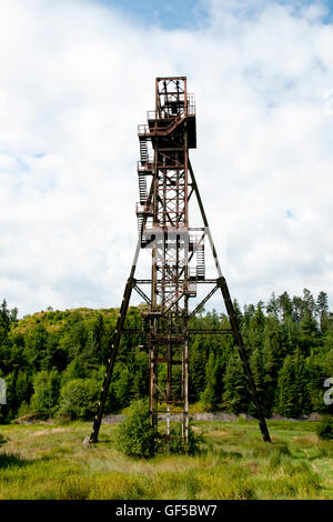 Old Mine Shaft Tower - Banska Stiavnica - Slovakia - Stock Photo