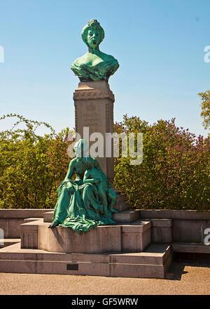 Copenhagen, Denmark - Monument from 1912 of Princess Marie of Denmark in Langelinie Park - Stock Photo