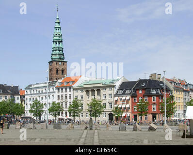 city view of Copenhagen, the capital city of Denmark - Stock Photo