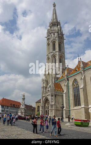 Budapest, Hungary - May 19, 2010:  Roman Catholic Matthias Church. - Stock Photo