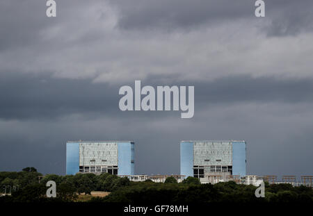 General view of Hinkley Point A Magnox nuclear power station in Somerset, as energy giant EDF is set to make its - Stock Photo
