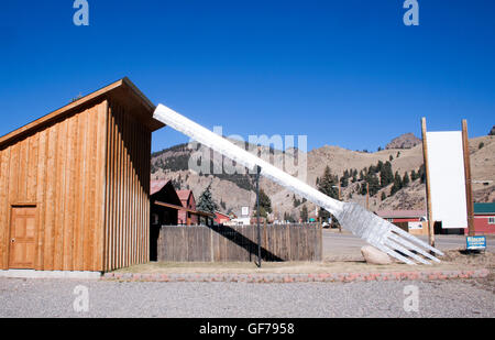 Largest Fork in the U.S. in Creede Colorado - Stock Photo