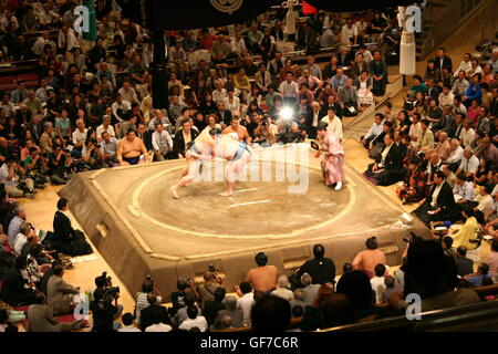 Full house for Sumo competition - Stock Photo