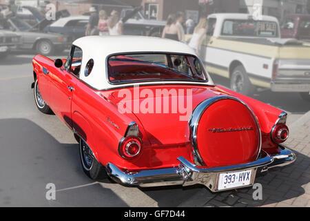 Antique car Ford Thunderbird 1956 - Stock Photo
