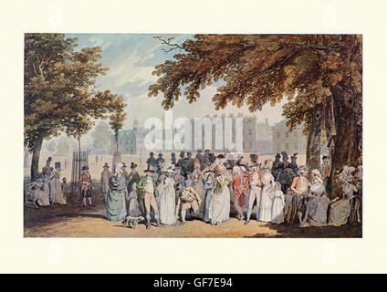 Buckingham House, St James's Park, London, after the watercolour by Edward Dayes, 1790 - Stock Photo