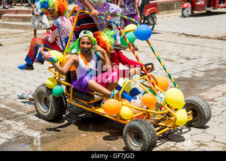 El Sauce, Nicaragua - June 2016. Carnival in the streets of El Sauce - Stock Photo