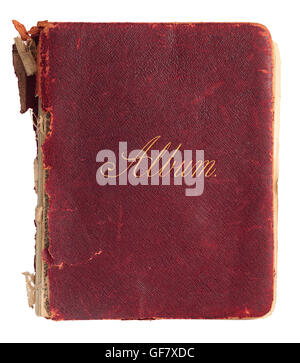Old photograph album from the 1940s - Stock Photo