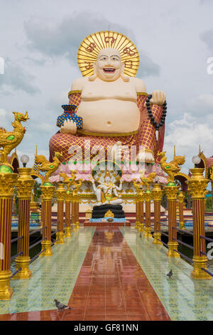Statue at Big Buddha area in Wat Plai Laem, Koh Samui,Thailand - Stock Photo