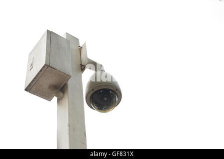 CCTV Security camera video surveillance, clipping paths included - Stock Photo