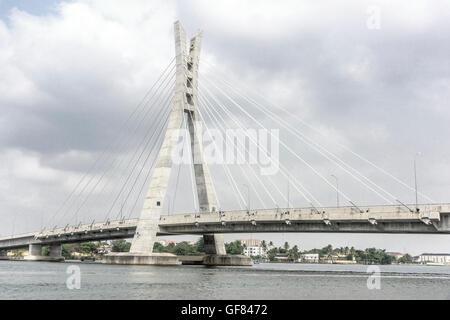 Lekki-Ikoyi Bridge, Lagos Nigeria, West Africa - Stock Photo