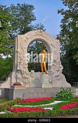 Strauss monument, Vienna, Austria - Stock Photo