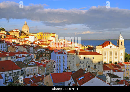 Lisbon historical centre, Alfama district - Stock Photo