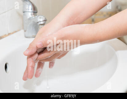 Hygiene. Cleaning Hands. Washing hands. - Stock Photo