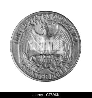 Coin quarter dollar - Stock Photo