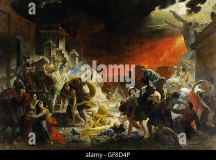 Karl Brullov - The Last Day of Pompeii - Stock Photo
