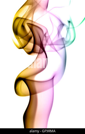 Smoke waves of colors isolated - Stock Photo