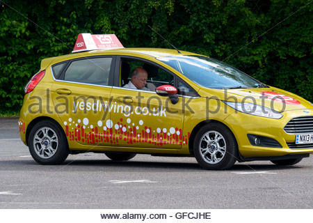 Driving Instructor, Blandford Forum, Dorset, England, Britain, UK - Stock Photo