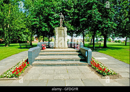 Memorial Statue for Thornaby Aerodrome, Thornaby, Cleveland - Stock Photo