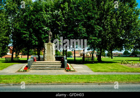 Memorial To Thornaby Aerodrome, Thornaby, Cleveland - Stock Photo