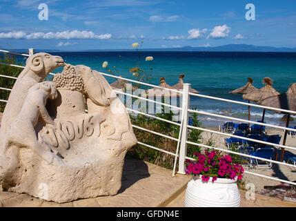 ombrelles on the beach - Stock Photo