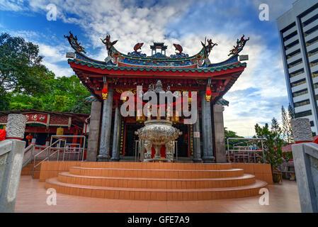 Tua Pek Kong Chinese Temple in Chinatown. Kuching, Sarawak. Malaysia. Borneo - Stock Photo