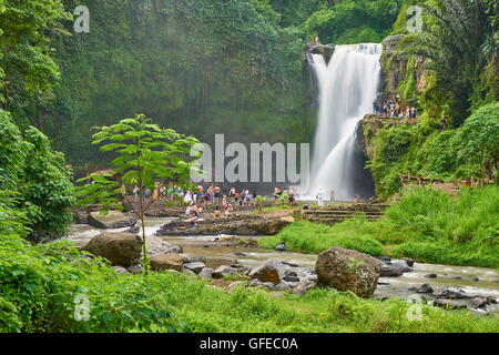 Tegalalang Waterfall near Ubud, Bali, Indonesia - Stock Photo