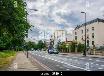 Esso Garage with Tescos on Brixton Road, South London, UK - Stock Photo