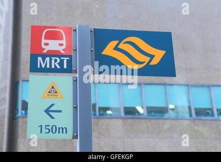 MRT Singapore subway system in Singapore. - Stock Photo