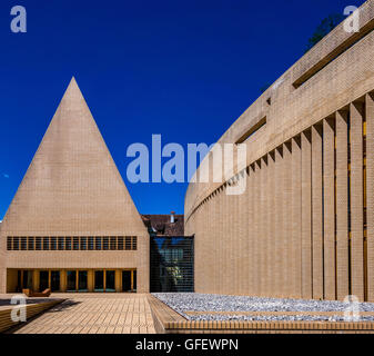 Parliament and government buildings, Vaduz, Principality of Liechtenstein, Europe - Stock Photo