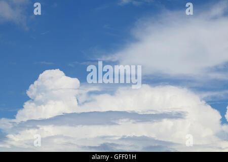 cumulonimbus cloud and blue sky - Stock Photo