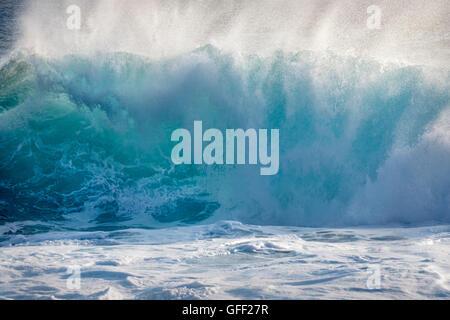 Large ocean waves. Hawaii Island. - Stock Photo
