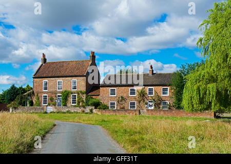 Houses in the village of Nun Monkton, near York, North Yorkshire, England UK - Stock Photo