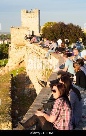 Beograd, Belgrade: Fortress with the Kalemegdan Park, Castellan Tower, Serbia, , - Stock Photo