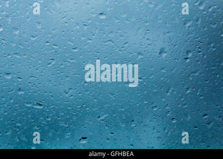water drops on window pane - Stock Photo
