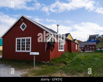 Barrel Makers Carpenters Workshop Paamiut Katersugaasivik Museum South West Greenland  in Sermersooq municipality - Stock Photo