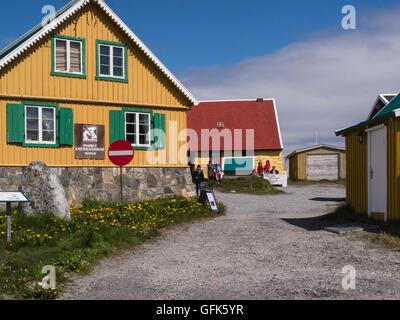 Paamiut  Katersugaasivik Museum South West Greenland small fishing community in Sermersooq municipality  Kuannersooq - Stock Photo