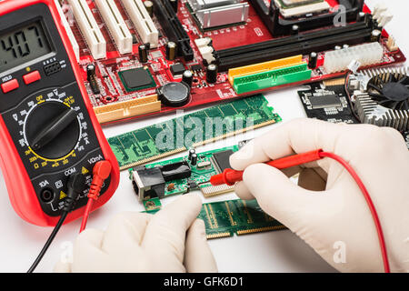 working on the computer hardware - Stock Photo