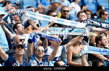 Lazio fans during the Friendly match between Brighton and Hove Albion and Lazio at the American Express Community - Stock Photo
