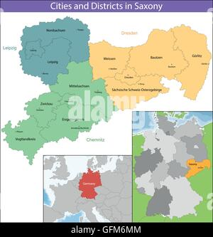 Free State of Saxony - Stock Photo