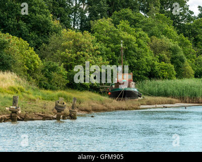 Landscape depicting the Goosemoor & River Clyst near Topsham. - Stock Photo